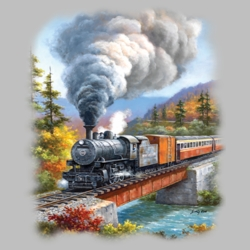 Train Country T Shirts Wholesale Bulk Graphic Printed Suppliers - 19357HL2