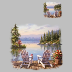 Lake Scene T Shirts Wholesale Bulk Graphic Printed Suppliers - 19359HL2