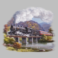 Train T Shirts Wholesale Bulk Graphic Printed Suppliers - 19923HL2