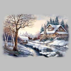 Winter Scene T Shirts Wholesale Bulk Graphic Printed Suppliers - 19990I2