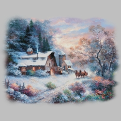 Winter Scene T Shirts Wholesale Bulk Graphic Printed Suppliers - 19991I2