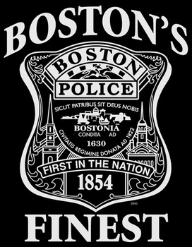 Men's Women's Kid's Short Sleeve Boston Police T Shirts, Wholesale, Bulk, Clothing, Apparel - MSC Distributors
