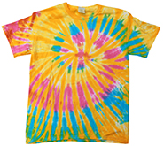 Wholesale Products - Colortone Youth & Adult Tie Dye T-Shirt - Aurora - MSC Distributors
