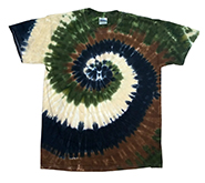 Clothing Apparel T-Shirts Hats Wholesale Bulk Tie Dye Short Sleeve - Camo Swirl