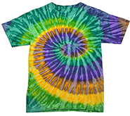Wholesale Products - Colortone Youth & Adult Tie Dye T-Shirt - Mardi Gras - MSC Distributors