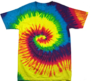 Wholesale Products - Colortone Youth & Adult Tie Dye T-Shirt - Reactive Rainbow - MSC Distributors