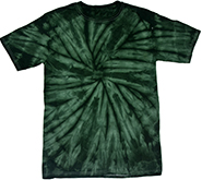 Wholesale Apparel Blank Bulk Cheap Discount Gildan Wholesale Resale Products Cheap - tie_dye_spider_forest_green