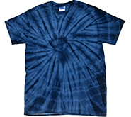 Wholesale Products - Spider Tie Dye T-Shirts - Spider Navy