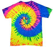 Bulk, Apparel - Wholesale T Shirts - Short Sleeve, Tie Dye, Adult, Men's, Women's, Kids - Neon Rainbow T-Shirts
