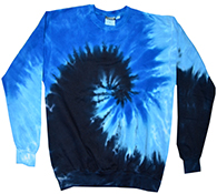 Wholesale Apparel Blank Bulk Cheap Discount Gildan Bulk, Apparel - Wholesale T Shirts Wholesale Apparel Designs Pullover Sweatshirts - tie_dye_blue_ocean_crew_neck_fleece