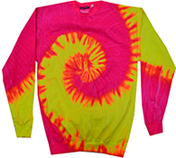 Tie-Dye T-Shirts, Hoodies & Other Clothing - Cheap Bulk Prices - Apparel - Wholesale T Shirts Wholesale Apparel Designs Pullover Sweatshirts - tie_dye_flo_swirl_crew_neck_fleece