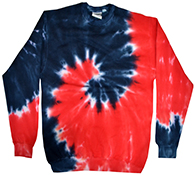 Wholesale Closeout Tie Dye Crewneck Sweatshirts Wholesale Prices - tie dye freedom crew neck fleece