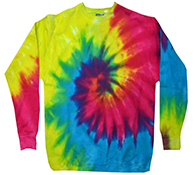 Bulk, Apparel - Wholesale T Shirts Wholesale Apparel Designs Pullover Sweatshirts - tie_dye_reactive_rainbow_crew_neck_fleece