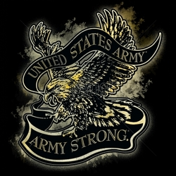 Graphic U.S. Army Wholesale T-Shirts Military Suppliers - 12x13-united-states-army-army-strong-eagle-banner