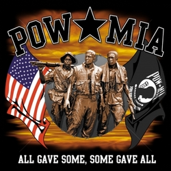 T Shirts Wholesalers, Patriotic, Wholesale Military Shirts - 16192-13x12-pow-mia-all-gave-some-some-gave-all-vietnam-soldiers