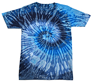 Wholesale Products - Men's Women's Adult Colortone Tie Dye Vintage Pigment Collection Youth & Adult T-Shirt - EVENING SKY