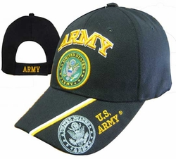 Wholesale Headwear, Army Hats, Wholesale Hats, Men's Hats, Military Hats - CAP601M Army Emblem Cap