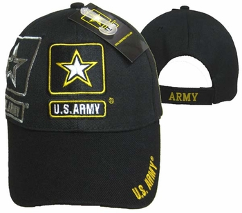 Shop Clothing Apparel T-Shirts Hats Wholesale Bulk US Military - CAP601S Army Gold Star  Shadow