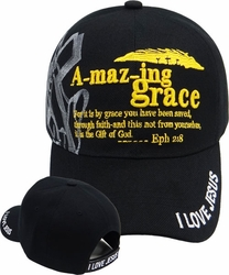 Wholesale Hats, Bulk Baseball Caps, Christian - SR-126 Amazing Grace