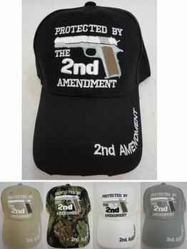 Wholesale Apparel Bulk Cheap Discount Baseball Caps T Shirts Clothing - Wholesale Bulk - HT735. PROTECTED BY THE 2nd AMENDMENT Hat