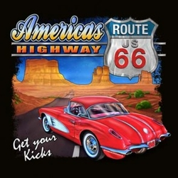 Wholesale Products - American Highway Route 66 Graphic T-Shirts, Women's T-shirts, Polo Shirts, Hoodies, Wholesale Prices - 21183