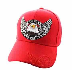 Wholesale Biker Hats and Caps in Bulk - Choppers Velcro Cap (Solid Red) - VM176