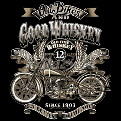 Old bikes good whiskey T-Shirts, Wholesale, Bulk, Suppliers - 18742