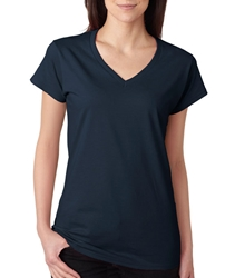 Wholesale Clothing, Gildan 64V00L - Fit - First Quality - Junior Fitted V-Neck T-Shirt - MSC Distributors