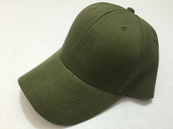 Wholesale Headwear, Solid Color Baseball Hats Caps - HT905. Solid Army Green Ball Cap