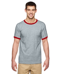 T Shirts Wholesale Distributor - Clothing Men's Wholesale Supply - T Shirts Wholesale Bulk Supplier - Blank - 12000 G860 - Gildan Adult DryBlend 5.6 oz. Ringer T-Shirt 5.69