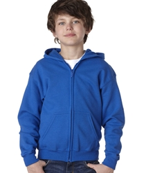T Shirts Wholesale Bulk Supplier - Blank - 18600B Gildan Heavy Blend™ Youth Full-Zip Hooded Sweatshirt 16.24