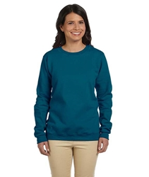T Shirts Wholesale Bulk Supplier - Blank - G180FL Gildan Heavy Blend™ Ladies' Fleece Crew Neck Sweatshirt 10.06