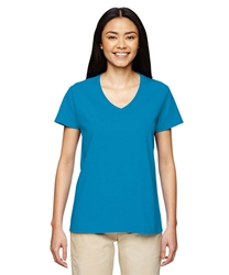 T Shirts Wholesale Bulk Supplier - Blank - G500VL - Gildan Ladies Heavy Cotton 5.3 oz. V-Neck T-Shirt 3.46