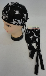 Wholesale Resale Products - Bulk Suppliers - BN10. Skull Cap-Black Skull & Crossbones