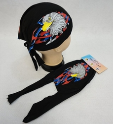 Patriotic Wholesale Merchandies Flea Market Bulk Supplier - BN311. Skull Cap-Eagle Head with Tribal Flag