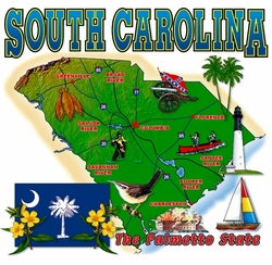 Wholesale South Carolina Map T Shirts in Bulk, Wholesale Clothing and Apparel - MSC Distributors