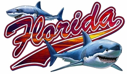 T Shirts Wholesale Distributor - Florida Sharks Resort Vacation T Shirts Clothing - 13284