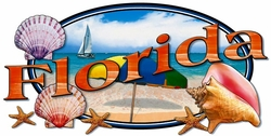 T Shirts Wholesale Distributor - Florida Sea Shells Resort Vacation T Shirts Clothing - 13286