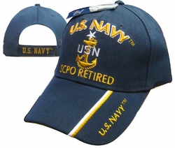 Hats Caps Wholesale Bulk Supplier - Military CAP551B Navy SCPO Retired Cap