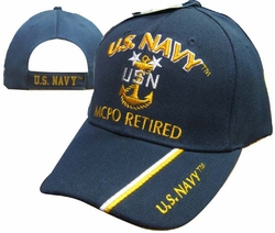 Hats Caps Wholesale Bulk Supplier - Military CAP551C Navy MCPO Retired Cap