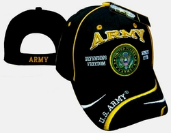 Army Military Hats and Caps - Wholesale Bulk - ECAP492b. Embroidered Acrylic Caps
