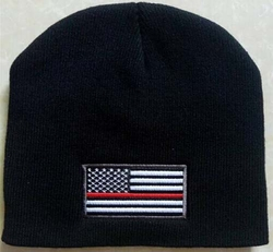 Wholesale Bulk Mens Hats and Caps Suppliers Printed - WIN650 Thin Red Line Flag Beanie