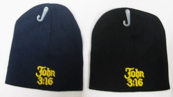 Wholesale Bulk Mens Hats and Caps Suppliers Printed - WIN834 John 3 16 Beanie