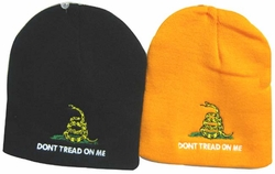 Wholesale Bulk Mens Hats and Caps Suppliers Printed - WIN982 Don't Tread on Me Beanie