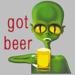 Men's Women's Adult Wholesale Clothing Apparel -  Bulk, GOT BEER ALIEN T-SHIRT - BEER DRINKING T-SHIRTS - MSC Distributors