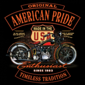 Wholesale Bulk T Shirts Suppliers Biker Motorcycle - american pride