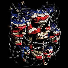 Wholesale Products for Resale Online - Patriotic Skulls T Shirts Apparel, Wholesale, Bulk, Supplier - MSC Distributors