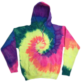 Wholesale Apparel Blank Bulk Cheap Discount Gildan Pullover Tie Dye Hoodies Wholesale - NEON RAINBOW