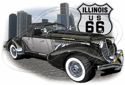 T Shirts Hats Clothing Apparel Ilinois Route 66 Car T-Shirt Supplier, Wholesale Supplier of Funny T-Shirts in Bulk - POS-470