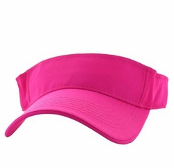 Wholesale Caps and Hats in Bulk - Solid Visor Hat (Hot Pink) - VP023